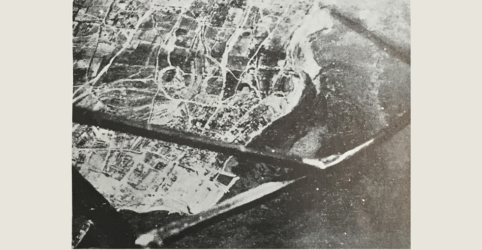 View of Gallipoli from an aeroplane
