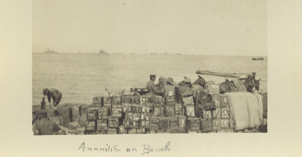Ammunition on a beach