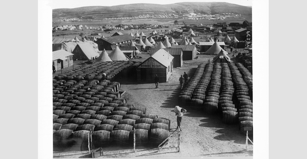 Barrel store at Suvla Bay
