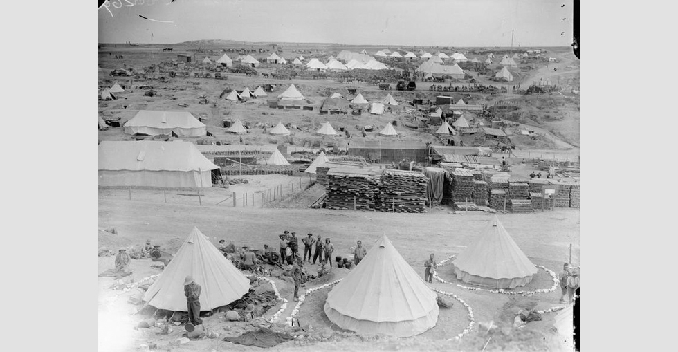 British Camp at V Beach