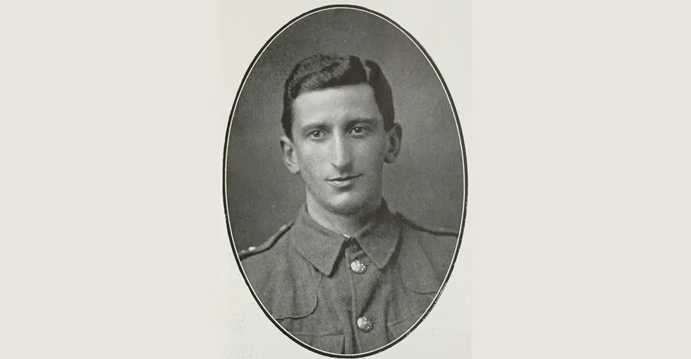 Mr Charles F. Bell, 7th Battalion RDF, who fell at Suvla Bay.