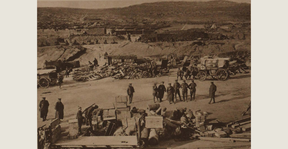 A scene on the west beach at Suvla Bay two days before the evacuation