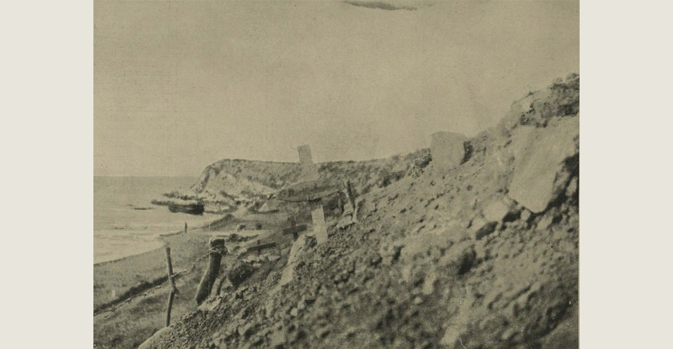 Graves of British soldiers near Cape Helles