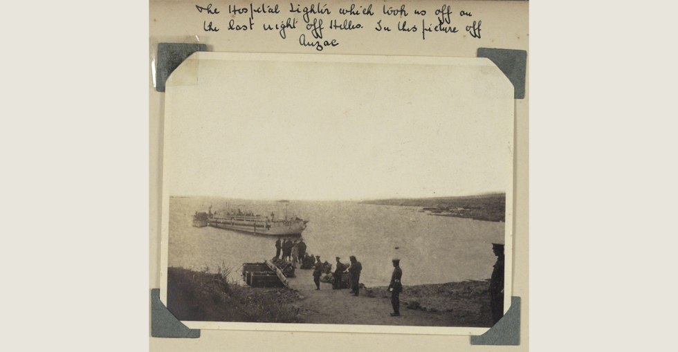 The hospital lighter off Anzac cove