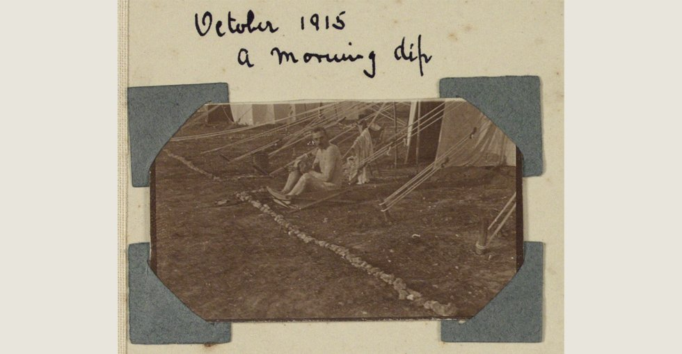 A morning dip in October 1915