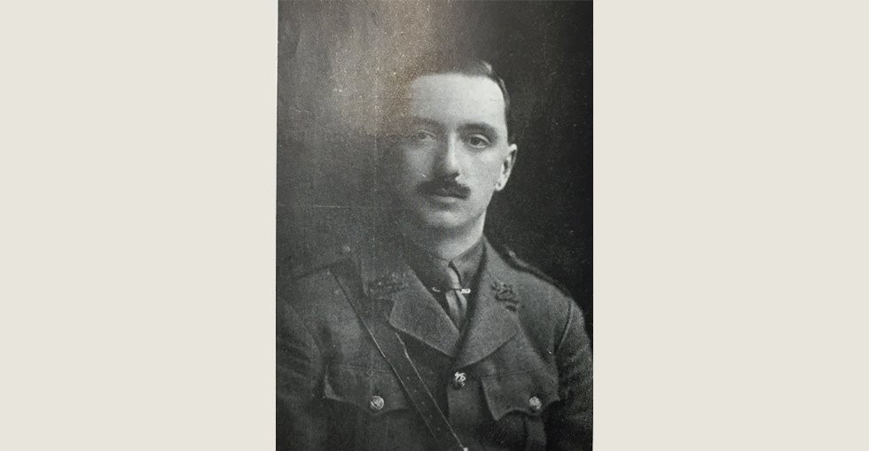 Lieut. Noel Trevor Worthington, 6th King's Lancashire Regiment, wounded at the Dardanelles on 8 August 1915.