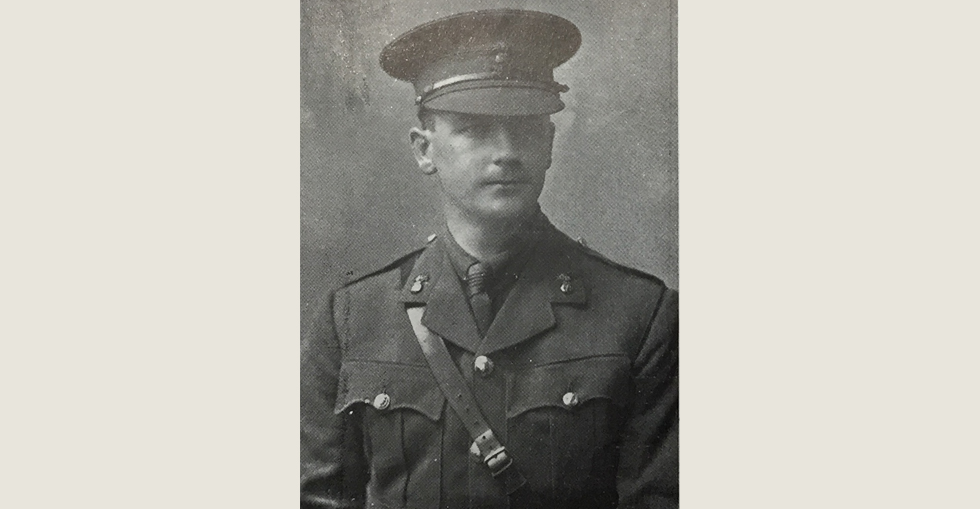 Second Lieutenant E.T. Weatherill of 7th Battalion RDF who was killed in action on 15 August. He joined the 'football' company of the RDF in September 1914.