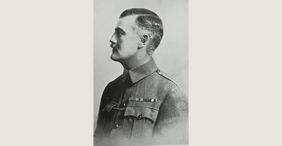 Lieut. Col. Sir J.P. Milbanke, VC, of the 10th Hussars, Commanding Notts Sherwood Rangers Yeomanry. He was killed in the Dardanelles on 21 August