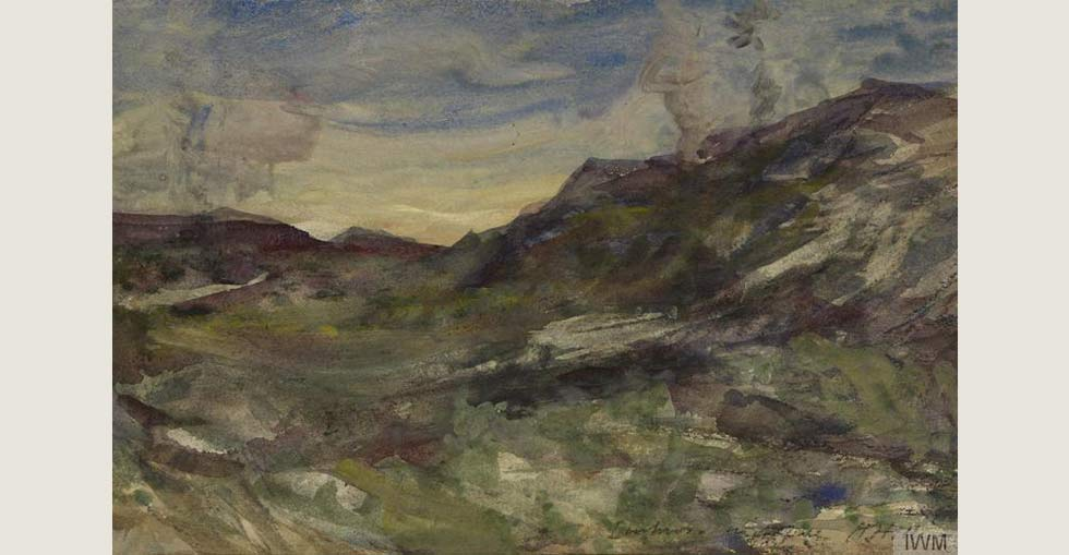 Nightfall on Imbros, June 1915 (by Herbert Hillier)