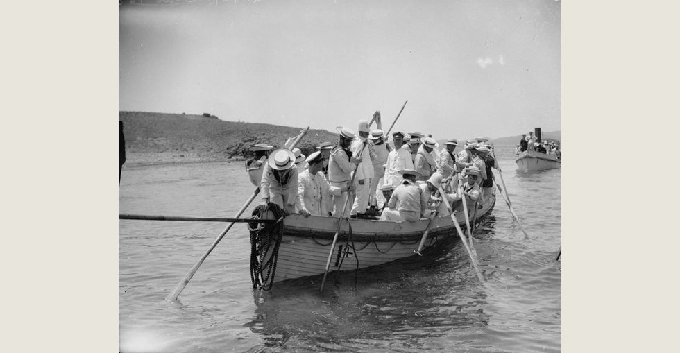 Royal Navy shore leave, Imbros, during the operations at the Dardanelles.