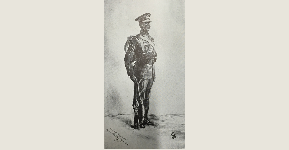 Study of a Royal Dublin Fusilier, painted and presented by Lady Butler