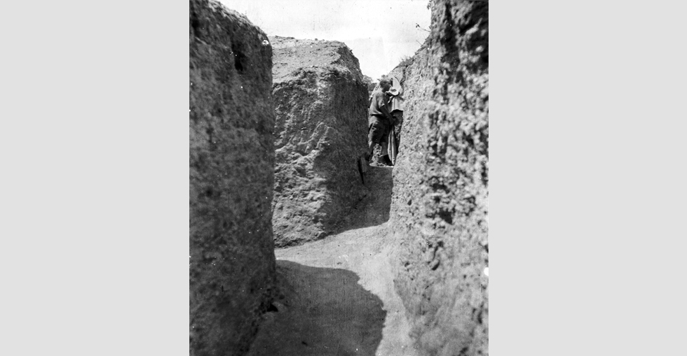 View along trenches, Russell's Top, 1915