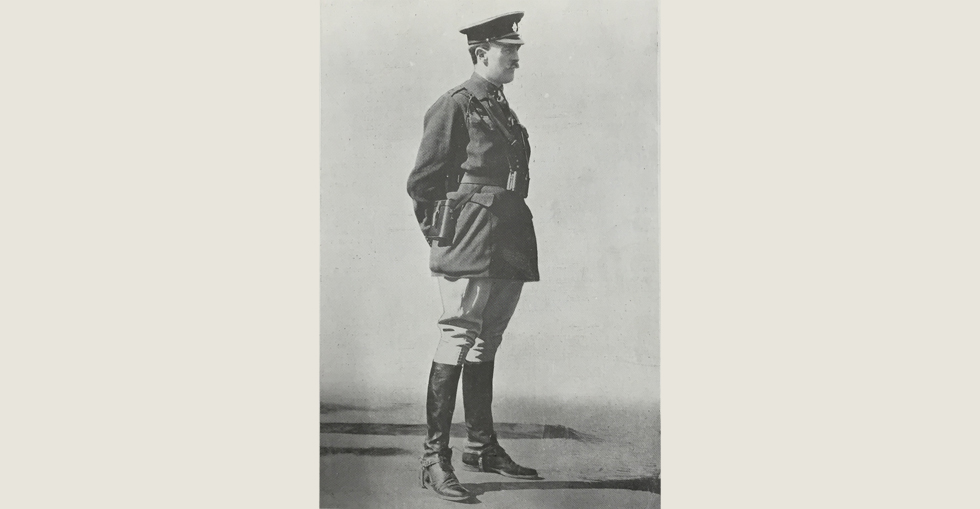 Viscount Powerscourt, who was invalided home from the Dardanelles in late 1915